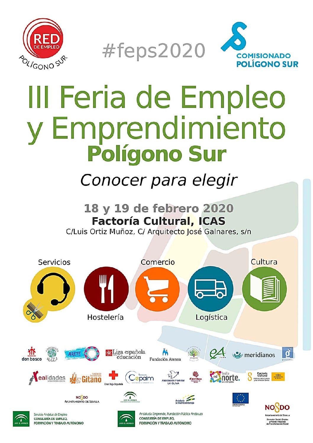"""Celebración de la III Feria de Empleo y Emprendimiento de Polígono Sur.""""Conocer para Elegir """""""