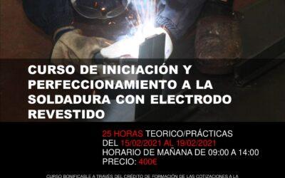 Curso de iniciación y perfeccionamiento a la soldadura con electrodo revestido