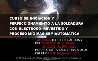 """CURSO PRIVADO: """"Perfeccionamiento a la Soldadura con Electrodo Revestido y Proceso MIG MAG Semiautomática"""""""